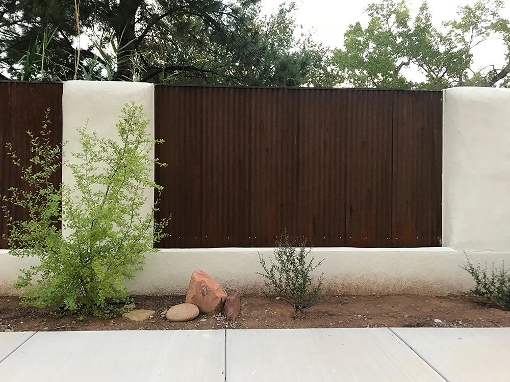 white straw bail fence